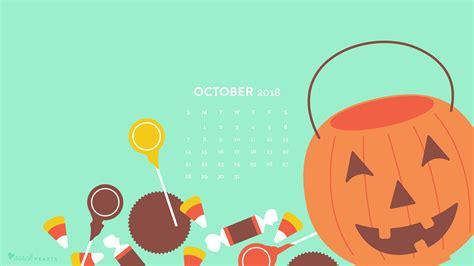 October 2018 Halloween Candy Calendar Wallpaper - Sarah Hearts