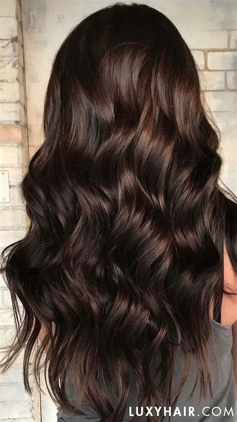 classic chocolate brown clip ins   brown hair balayage light brown hair brown