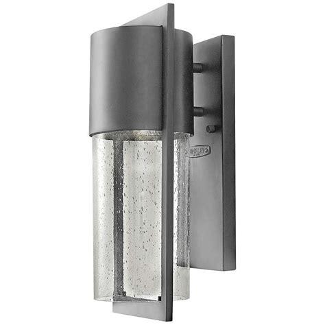 hinkley shelter 15 1 2 quot h led hematite outdoor wall light