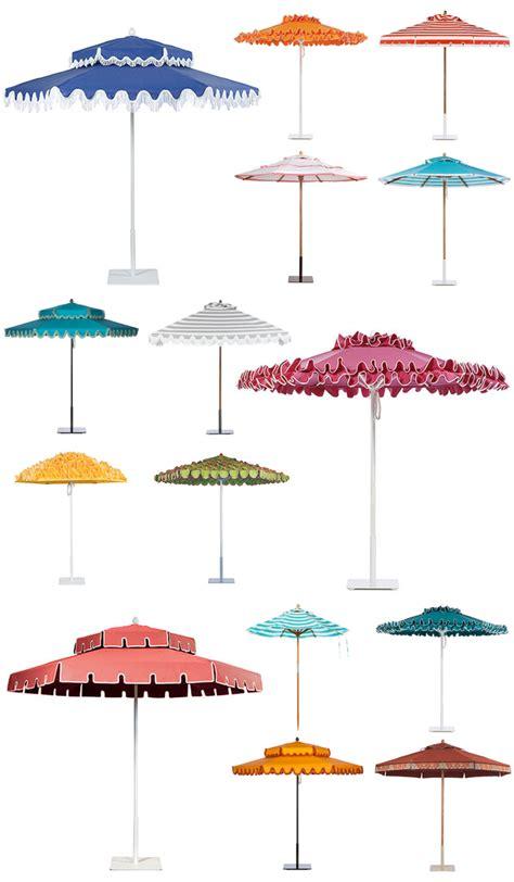 poolside a la slim aarons stylish patio umbrellas
