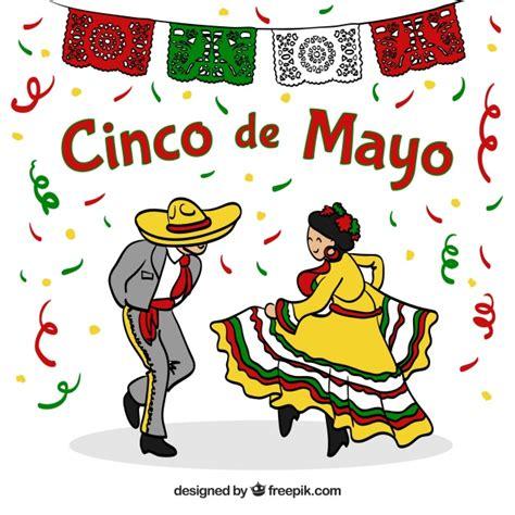 Fondo de fiesta de cinco de mayo con pareja bailando ...