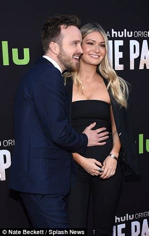 aaron paul eyes aaron paul can t take his eyes off wife lauren at the path