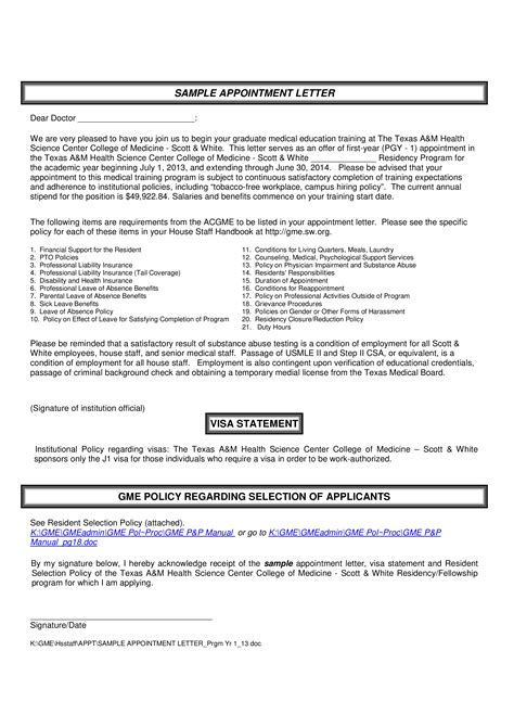 visa interview appointment letter templates