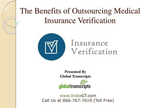 Entrepreneurs outsource their business activities to outsourcing firms as are not able. PPT - The benefits of outsourcing medical insurance verification PowerPoint Presentation - ID ...