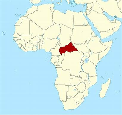 Map Africa Central Republic African Location Detailed