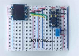 Wiring Up Arduino Leonardo Pro Micro With Dht11 And 128 U00d764 Oled Display On Breadboard