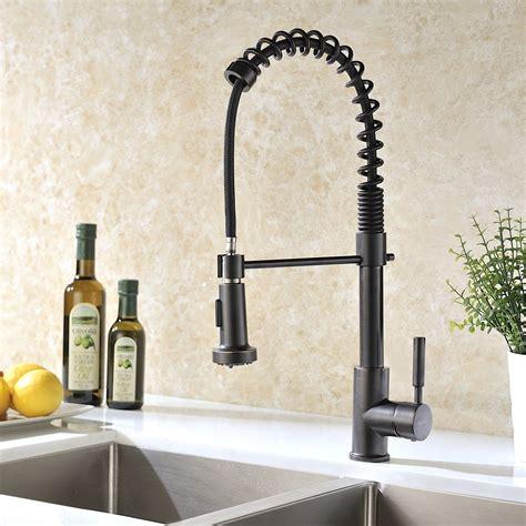 bronze kitchen sink faucets jiguani rubbed bronze kitchen sink faucet