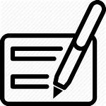 Icon Diary Writing Pen Card Icons Ballpoint