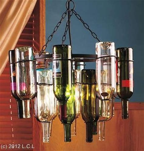 unique 16 wine bottle chandelier frame light stained glass