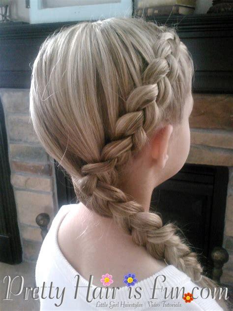 girls hairstyles side dutch braid