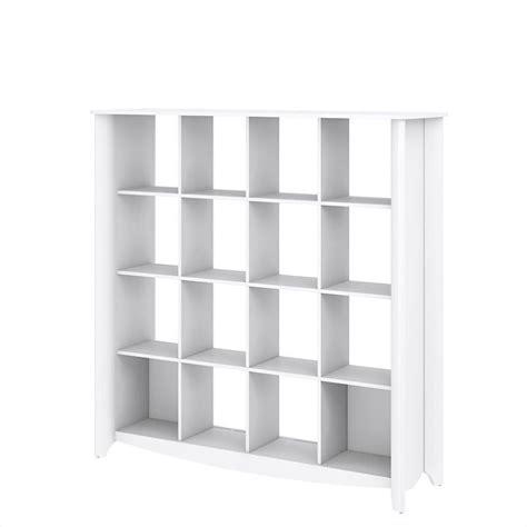 Cube Bookcase White by Bush Aero 16 Cube Bookcase Room Divider In White