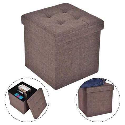 Ottoman Storage Cubes by Folding Storage Cube Ottoman Seat Stool Box Footrest