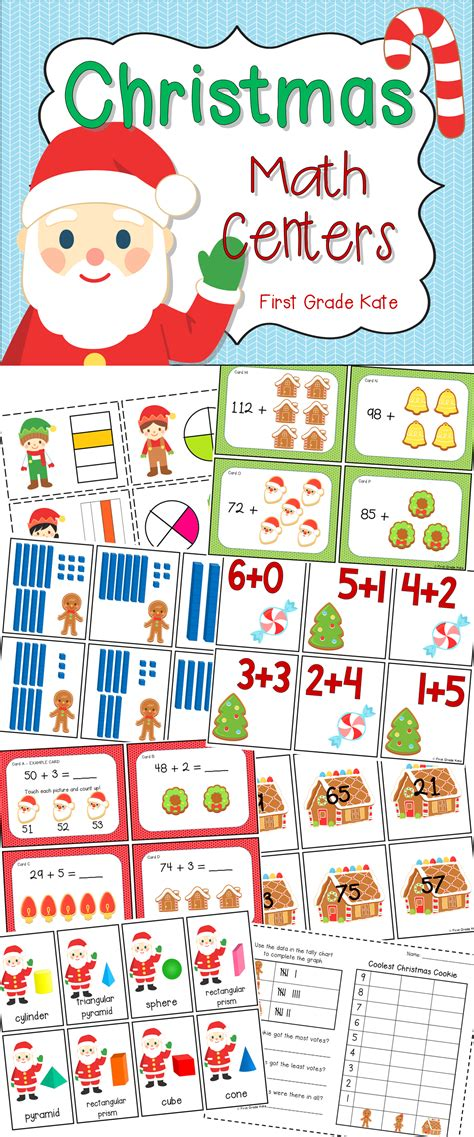Christmas Math Centers For First Grade  See More Best