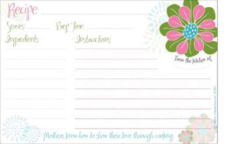 s day recipe card template 20 free s day cards printables the wilderness
