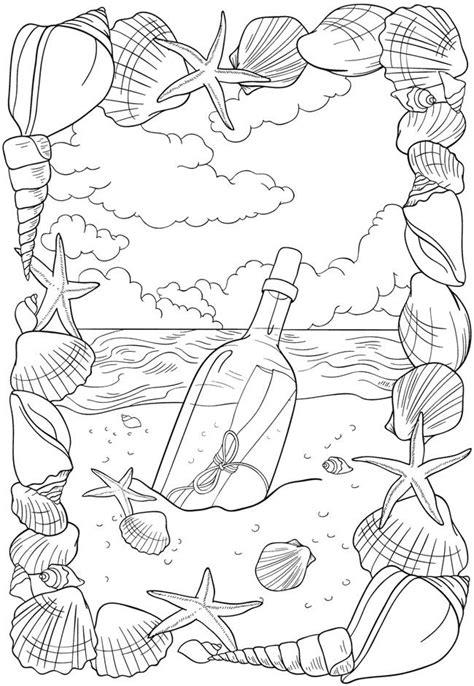 dover publications bliss seashore coloring