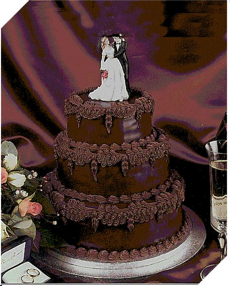 unique wedding ideas chocolate wedding cakes