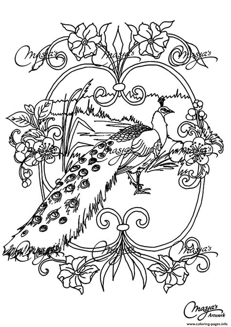 Adult Animals Peacock Coloring Pages Printable