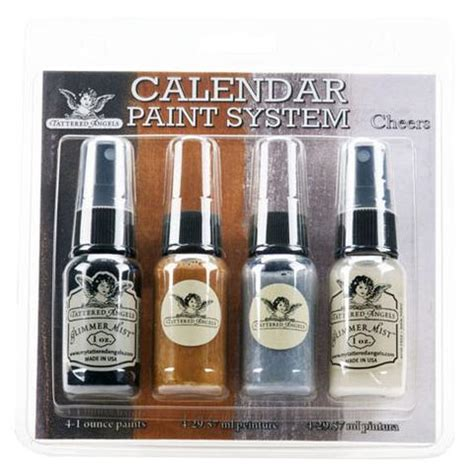 calendar tattered angels paint cheers kit kits system