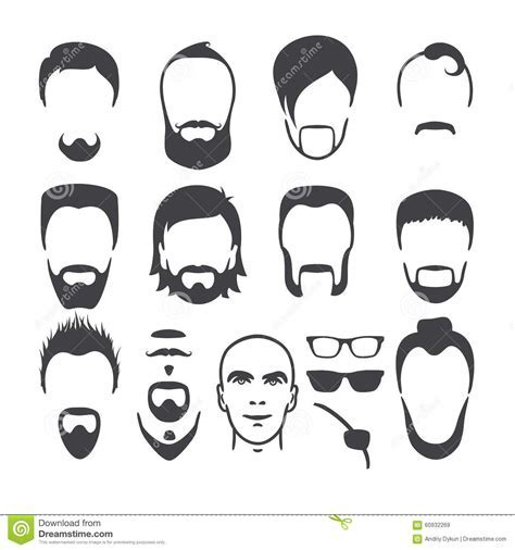 Man Face Set Stock Vector   Image: 60932269