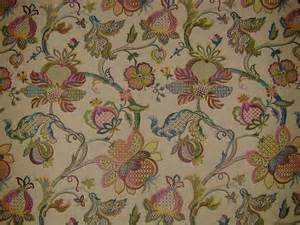 curtain fabric upholstery fabric jacobean tapestry teastain