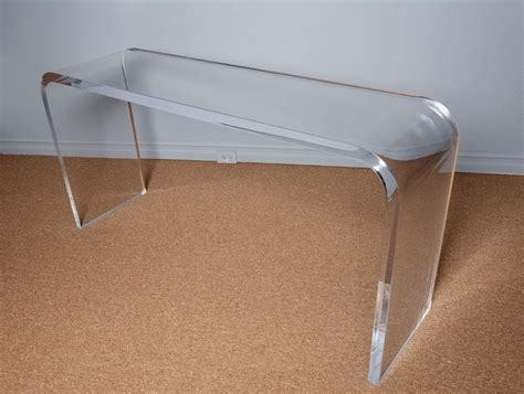 lucite sofa table lucite console tables classic acrylic usually located at entrance narrow often used as a
