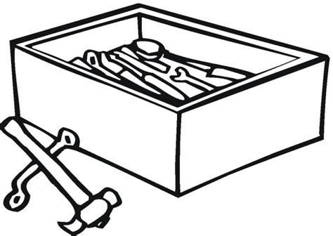 toolbox coloring page free tools coloring pages