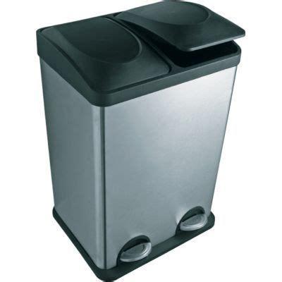 poubelle de cuisine tri selectif poubelle tri sélectif à pédale duo castorama