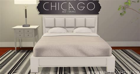 chicago bed frame  onyx sims sims  updates