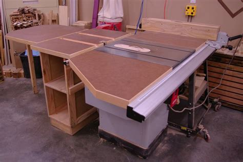 make a table saw table table saw extension table system by