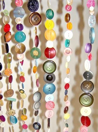 DIY Curtains Made of 2000 Buttons   Shelterness