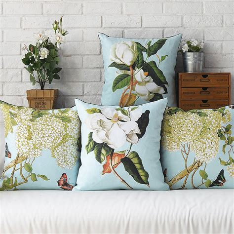 garden flowers decorative throw pillows nordic style