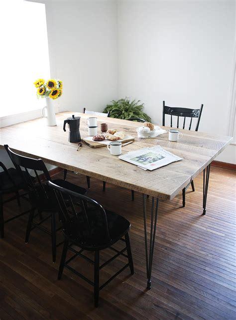 diy minimalist dining table minimalist reclaimed wood table diyideacenter com