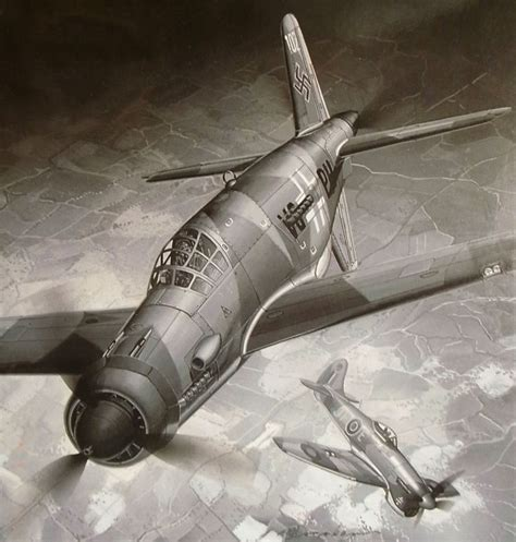 Dornier Do 335a-0 Pfeil Vs Hawker Tempest Mk V, By Masao