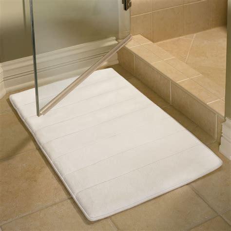 memory foam bathroom mat hammacher schlemmer