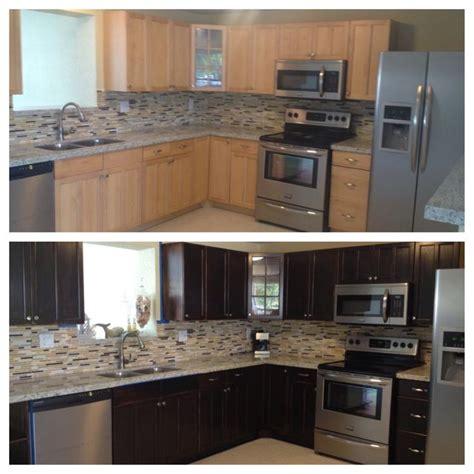 restaining kitchen cabinets darker restaining kitchen cabinets before and after dandk organizer 4774
