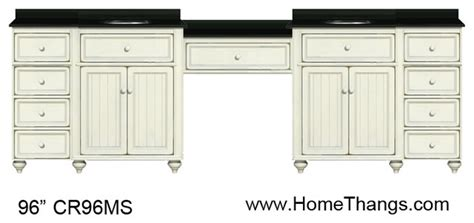 sagehill designs 96 quot double bathroom vanity with make up