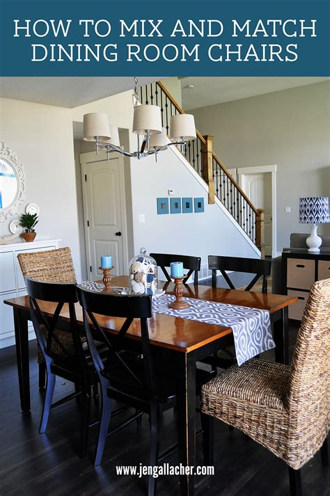 jen gallacher how to mix and match dining room chairs