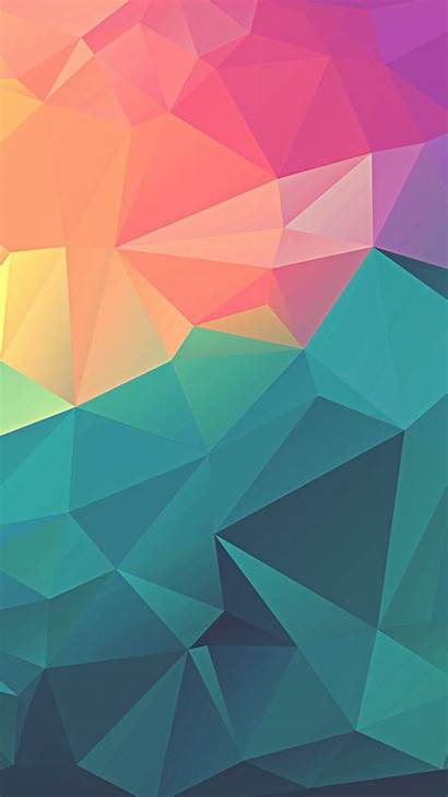 Geometric Polygon Iphone Colorful Wallpapers Colourful Iphoneswallpapers