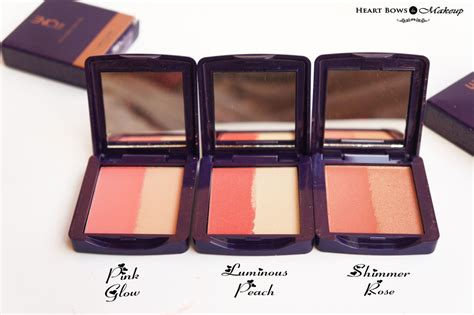 oriflame the one illuskin blush review swatches pink glow luminous shimmer