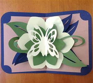 project center lotus flower pop up card pop ups With flower pop up card templates