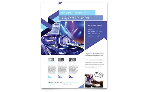 dj flyer template word publisher