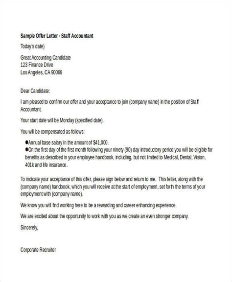 job offer letter   premium templates