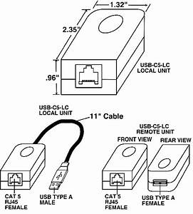 usb extender cat5 balun rj45 exceed maximum usb length With wiring cat5