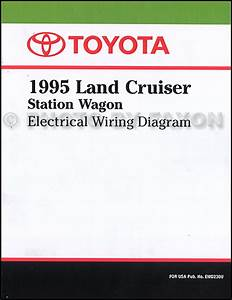 1995 Toyota Land Cruiser Wiring Diagram Manual Factory Reprint