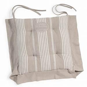 Galette De Chaise Maison Du Monde : galette de chaise rayures en coton beige la bastide ~ Melissatoandfro.com Idées de Décoration