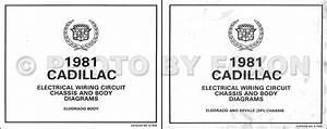 1981 Cadillac Eldorado V8 Gas Foldout Wiring Diagrams Original