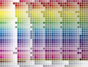 Color Spectrum Mosaic Palette  Hue And Brightness  Vector