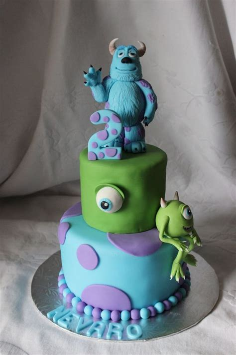 monsters inc cake s inc birthday cake cakes and fondant