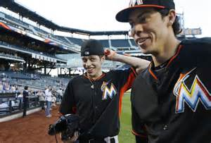 Marlins Surprise Christian Yelich With Lookalike From 'snl'