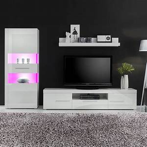 Fredriks Möbel Hersteller : wohnwand liminka 3 teilig hochglanz wei wei ~ Watch28wear.com Haus und Dekorationen